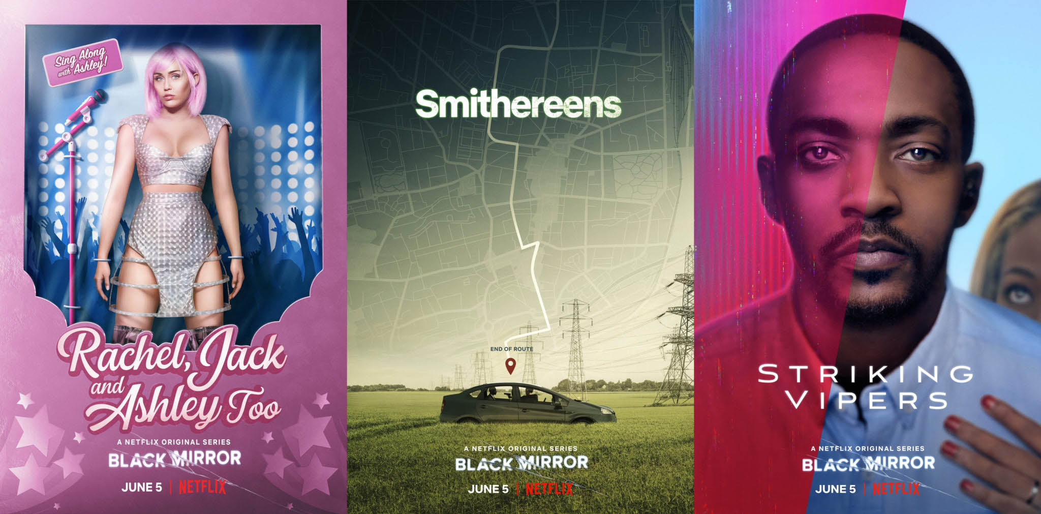 Black Mirror Season 5 Netflix 2019. This sci-fi anthology series explores a twisted, high-tech near-future where humanity's greatest innovations and darkest instincts collide.