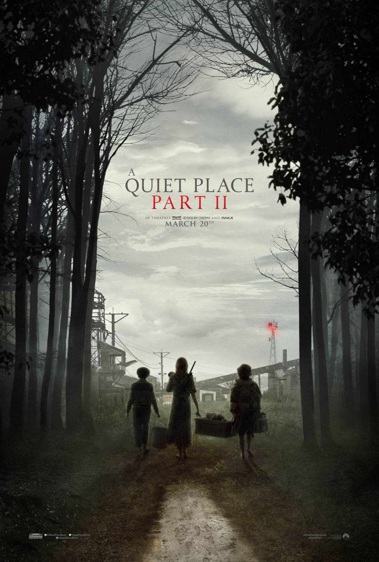 A Quiet Place: Part II (2020) Official Full Movie poster Free Online